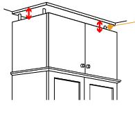 天板がアジャスターで上下稼働天井と家具の隙間にピッタリ設置